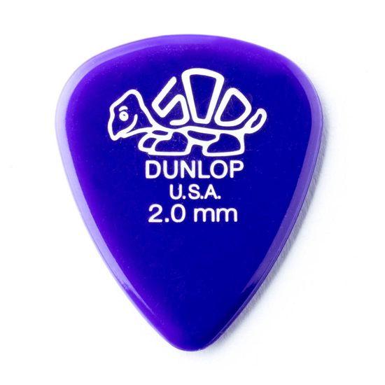 Palheta Dunlop Delrin 500 2MM - Roxa