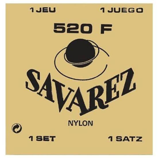 Cordas Savarez Tradicional 520F Violão Nylon Tensão Alta Corda G Revestida