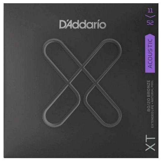 Encordoamento para Violão DAddario XTABR1152 Bronze 0.11 Custom Light Set 80/20